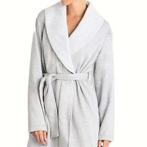 UGG Blanche Sienna Heather Plush Shawl Collar Robe